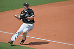 4 JUNE 2016: Daniel Zardon (23) of Nova Southeastern University makes a play at third base against Millersville University during the Division II Men's Baseball Championship held at the USA Baseball National Training Complex in Cary, NC.  Nova Southeastern University defeated Millersville University 8-6 to win the national title.  Sandy Halverson/NCAA Photos
