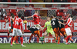 Charlton's Patrick Bauer scoring his sides opening goal during the League One match at the Valley Stadium, London. Picture date: November 26th, 2016. Pic David Klein/Sportimage