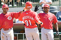 Reds score, McDonald Cumberland, Jones 7459.jpg. Spring Training. Cincinnati Reds at Houston Astros. Spring Training Game. Friday March 20th, 2009 in Kissimmee., Florida. Photo by Andrew Woolley.