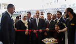 Palestinian Prime Minister, Rami Hamdallah attends the opening ceremony of the new dialysis department in Palestine Medical Complex, in the West bank city of Ramallah, on May 14, 2018. Photo by Prime Minister Office