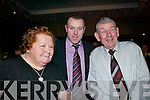 WELCOME: Seamus Moynihan with his parents, Dan and Nuala at the Seamus Moynihan tribute in the Killarney Great Southern Hotel last Friday night.