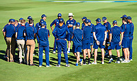 The Black Caps get ready for a big day of cricket during the final day of the Second International Cricket Test match, New Zealand V England, Hagley Oval, Christchurch, New Zealand, 3rd April 2018.Copyright photo: John Davidson / www.photosport.nz