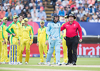 Marais Erasmus, Umpire sends Jason Roy (England) on his way as he disputes the decision from the standing umpire during Australia vs England, ICC World Cup Semi-Final Cricket at Edgbaston Stadium on 11th July 2019