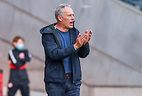 Trainer Christian Streich (SC Freiburg) gibt Anweisung, gestikuliert, mit den Armen gestikulieren, gives instructions, gesticulate- 26.05.2020 Fussball 1.Bundesliga Spieltag 28, Eintracht Frankfurt  - SC Freiburg emspor, <br /> <br /> Foto: Jan Huebner/Pool/ Via Marc Schueler/Sportpics.de<br /> (DFL/DFB REGULATIONS PROHIBIT ANY USE OF PHOTOGRAPHS as IMAGE SEQUENCES and/or QUASI-VIDEO), Editorial use only. National and International News Agencies OUT