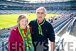 Peig and Ulick Roche, (Ballyfinnane), pictured at the All Ireland Minor Football Final of Kerry v Derry in Croke Park on Sunday last.