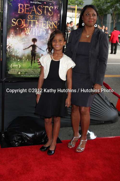 "LOS ANGELES - JUN 15:  Quevenzhane Wallis and mom  at the ""Beast of the Southern Wild"" LAFF Premiere at Regal Cinemas at LA Live on June 15, 2012 in Los Angeles, CA"