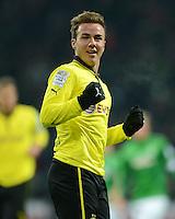 FUSSBALL   1. BUNDESLIGA   SAISON 2012/2013    18. SPIELTAG SV Werder Bremen - Borussia Dortmund                   19.01.2013 Torjubel: Mario Goetze (Borussia Dortmund) bejubelt seinen Treffer zum 2:0