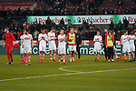 08.02.2019, RheinEnergieStadion, Koeln, GER, 2. FBL, 1.FC Koeln vs. FC St. Pauli,<br />  <br /> DFL regulations prohibit any use of photographs as image sequences and/or quasi-video<br /> <br /> im Bild / picture shows: <br /> die koelner bedanken sich bei den Fans <br /> <br /> Foto © nordphoto / Meuter