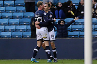 Aiden O'Brien celebrates scoring Millwall's opening goal with Jed Wallace during Millwall vs Barnsley, Emirates FA Cup Football at The Den on 6th January 2018