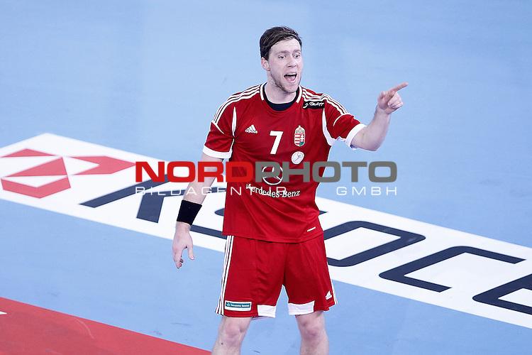 Hungary's Gabor Csaszar during 23rd Men's Handball World Championship preliminary round match.January 12 ,2013. Foto © nph / Acero)