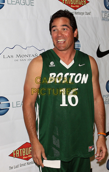 DEAN CAIN.E League's  Celebrity Basketball Exclusive Playoff  held Crossroads School, Santa Monica, California, USA..May 8th, 2010.half length green sleeveless top uniform mouth open.CAP/ADM/TC.©T. Conrad/AdMedia/Capital Pictures..