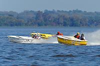 "JS-X ""Project X"" (Jersey Speed Skiff), Dick Daly, JS-77 ""Justa Fishn Bote"" (Jersey Speed Skiff) and Cliff Ennis, JS-3 (Jersey Speed Skiff)"