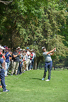 Jon Rahm (ESP) watches his approach shot on 16 during the preview of the World Golf Championships, Mexico, Club De Golf Chapultepec, Mexico City, Mexico. 2/28/2018.<br /> Picture: Golffile | Ken Murray<br /> <br /> <br /> All photo usage must carry mandatory copyright credit (&copy; Golffile | Ken Murray)
