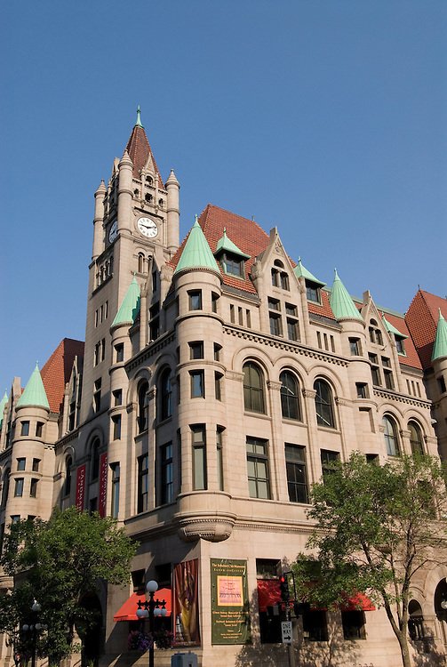 Minnesota, Twin Cities, Minneapolis-Saint Paul: The Landmark Building in downtown St Paul, by Rice Park.  This former Federal Building now hosts arts organizations..Photo mnqual292-75007..Photo copyright Lee Foster, www.fostertravel.com, 510-549-2202, lee@fostertravel.com.