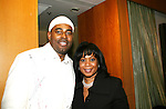 HOSTS for the evening - Lamman Rucker (ATWT & AMC) and Sandra Bookman (Eyewitness News) at the 2nd Annual AHEAD - Saving Lives Today - Sustaning Communities Tommorow - fundraising dinner on December 4, 2008 at the River Room, New York City, New York. MIssion of AHEAD is to work with underserved communities in developing countries to improve the quality of life by implrmenting programs that lead to seof-sufficiency and self-reliance. (Photo by Sue Coflin/Max Photos)
