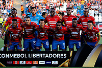 SANTIAGO DE CHILE - CHILE: 06-02-2019: Los jugadores de Deportivo Independiente Medellín (COL) posan para una foto antes de partido de la Segunda fase, llave 4, entre Club Deportivo Palestino (CHL) y Deportivo Independiente Medellín (COL), por la Copa Conmebol Libertadores 2019 en el estadio San Carlos de Apoquindio de la ciudad de Santiago de Chile. / The players Deportivo Independiente Medellin of Colombia pose for a photo prior a match between Club Deportivo Palestino (CHL) and Deportivo Independiente Medellin of the second phase, key 4, for Copa Conmebol Libertadores 2019 at the San Carlos de Apoquindio Stadium, in the city of Santiago de Chile. Photos: VizzorImage / Andrés Piña / Cont. / Photosport