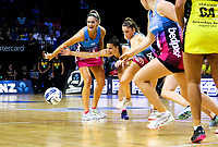 Karin Burger appeals to the umpire during the ANZ Championship netball match between the Central Pulse and Southern Steel at TSB Bank Arena in Wellington, New Zealand on Monday, 25 March 2019. Photo: Mike Moran / lintottphoto.co.nz