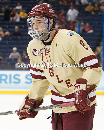 Edwin Shea (BC - 8) - The Boston College Eagles defeated the University of Minnesota Golden Gophers 6-1 in their 2012 Frozen Four semi-final on Thursday, April 5, 2012, at the Tampa Bay Times Forum in Tampa, Florida.