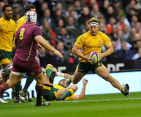 Twickenham, England. Michael Hooper of Australia in action during the QBE international match between England and Australia for the Cook Cup at Twickenham Stadium on November 10, 2012 in Twickenham, England