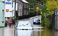 Flooding effected the villages of Aberdulais and Tonna in the Neath Valley after Storm Callum brought heavy rain and wind to the area causing the River Neath to reach bursting point.<br /> a car became stranded in the village of Tonna after trying to get through flood water. Saturday 13 October 2018