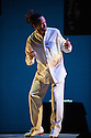 """London, UK. 03.04.2014. Savion Glover in """"SoLe Sanctuary"""" at Sadler's Wells. Considered by many to be the world's greatest tap dancer, the Tony award-winner makes a return to London, presenting the UK premiere of this show. Photograph © Jane Hobson."""