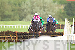 Action from the Kerrymaid Hurdle of €16,500 2m at Listowel races on Sunday last.