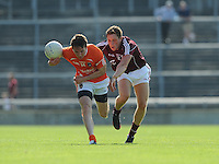 20th July 2013; Tony Kernan, Armagh, in action against Conor Doherty, Galway. All Ireland Football Senior Championship Round 3, Galway v Armagh, Pearse Stadium, Galway