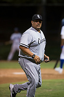 AZL White Sox pitching coach Felipe Lira (41) during an Arizona League game against the AZL Dodgers at Camelback Ranch on July 7, 2018 in Glendale, Arizona. The AZL Dodgers defeated the AZL White Sox by a score of 10-5. (Zachary Lucy/Four Seam Images)