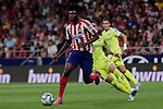 Atletico de Madrid's Thomas Teye during La Liga match between Atletico de Madrid and Getafe CF at Wanda Metropolitano Stadium in Madrid, Spain. August 18, 2019. (ALTERPHOTOS/A. Perez Meca)