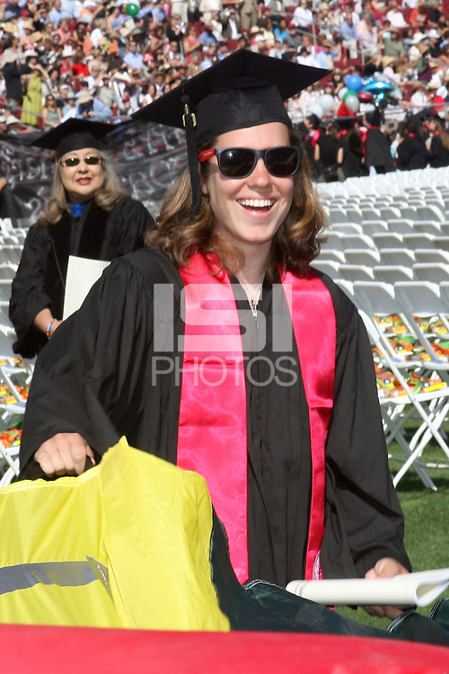 STANFORD, CA - June 15:  Laura Shane during the 117th Commencement Ceremony on June 15, 2008 at Stanford Stadium in Stanford, California.