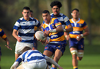 Sam Tuibua in action during the 2019 Jock Hobbs Memorial Under-19 Tournament rugby match between Auckland Development and Bay Of Plenty at Owen Delany Park in Taupo, New Zealand on Sunday, 8 September 2019. Photo: Dave Lintott / lintottphoto.co.nz