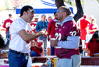 Fans at the Buck Cardinal Hospitality Area before Saturday's, November 23, 2013, Big Game at Stanford University.