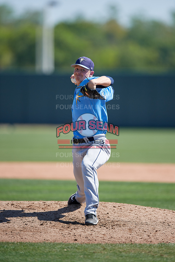 Tampa Bay Rays Kyle Goodbrand (28) during a Minor League Spring Training game against the Minnesota Twins on March 15, 2018 at CenturyLink Sports Complex in Fort Myers, Florida.  (Mike Janes/Four Seam Images)
