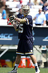 23 April 2016: Notre Dame's Cole Riccardi. The University of North Carolina Tar Heels hosted the University of Notre Dame Fighting Irish at Kenan Stadium in Chapel Hill, North Carolina in a 2016 NCAA Division I Men's Lacrosse match. UNC won the game 17-15.