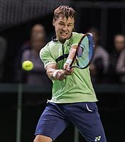 Rotterdam, Netherlands, 11 februari, 2018, Ahoy, Tennis, ABNAMROWTT, Qualifying final,  Ricardas Berankis (LTU)<br /> Photo: Henk Koster/tennisimages.com