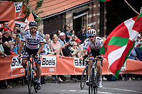 Peter Sagan (SVK/Bora Hansgrohe), Daryl Impey (RSA/Mitchelton Scott) up the infamous Mur de Huy. <br /> <br /> 83th Flèche Wallonne 2019 (1.UWT)<br /> 1 Day Race: Ans – Huy 195km<br /> <br /> ©kramon