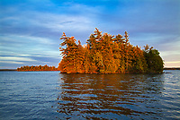 Island in Crow (Kakagi) Lake in Unorganized Kenora District and the township of Sioux Narrows-Nestor Falls<br />North of Nestor Falls<br />Ontario<br />Canada