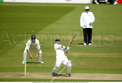DION EBRAHIM batting for Zimbabwe, England v ZIMBABWE, First test match, NPower test series, Lord's, 030524. Photo: Steve Bardens/Action Plus...2003.Cricket .batsman batsmen.