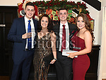 Anthony Murphy, Jade Starkey, Vincent Murphy and Georgia Davis at the Heart Children Ireland Gala Ball in Darver Castle. Photo:Colin Bell/pressphotos.ie