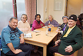 Pensioners' lunch club at Church Street Drop-in Centre, Paddington, London.