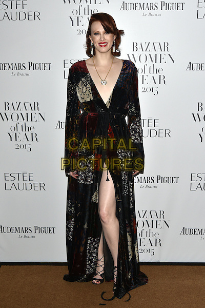 Karen Elson<br /> Harper's Bazaar Women of the Year 2015 awards,  Claridges Hotel n London, November 03, 2015.<br /> CAP/PL<br /> &copy;Phil Loftus/Capital Pictures