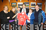 SPECIAL: Sean O'Halpi?n who presented his Cork jersey to the Ardfert committee on Friday night at the medal presentation to St Brendan's Hurling Club, Ardferty in St Brendan' Community Centre, Ardfert. L-r: ................................. ....