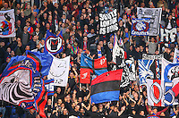 Palace fans during the EPL - Premier League match between Crystal Palace and Liverpool at Selhurst Park, London, England on 29 October 2016. Photo by Steve McCarthy.