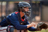 Atlanta Braves Ray Soderman (72) during practice before a Minor League Spring Training game against the New York Yankees on March 12, 2019 at New York Yankees Minor League Complex in Tampa, Florida.  (Mike Janes/Four Seam Images)