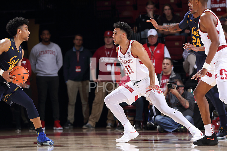 Stanford, CA - December 30, 2017:  Stanford Men's Basketball falls to California 77-74 at Maples Pavilion.