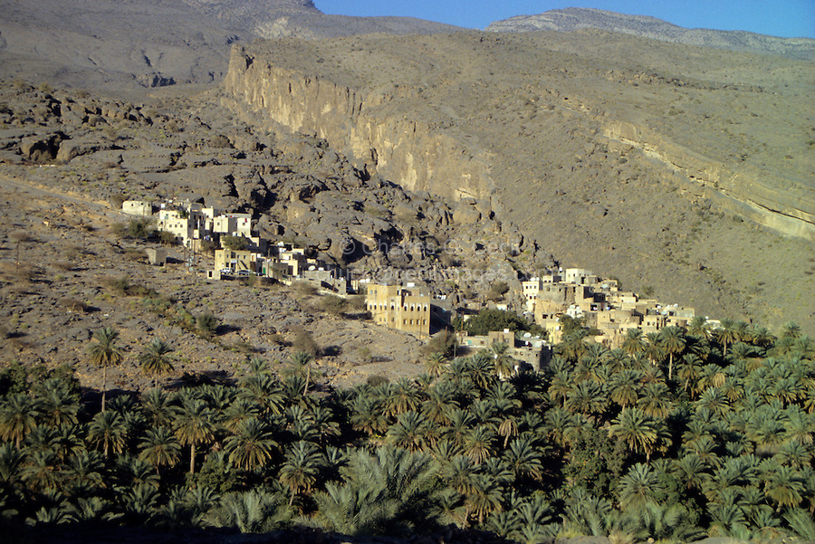 Misfah al-Abriyeen, Jebal Akhdar, Oman, Arabian Peninsula, Middle East - Mountain village in Oman's northern interior.