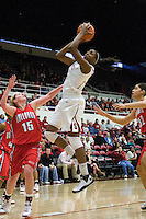 STANFORD, CA - DECEMBER 13:  Nnemkadi Ogwumike of the Stanford Cardinal during Stanford's 100-62 win over the Fresno State Bulldogs on December 13, 2008 at Maples Pavilion in Stanford, California.
