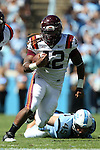 04 October 2014: Virginia Tech's Marshawn Williams. The University of North Carolina Tar Heels hosted the Virginia Tech Hokies at Kenan Memorial Stadium in Chapel Hill, North Carolina in a 2014 NCAA Division I College Football game. Virginia Tech won the game 34-17.