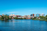 Wilmington skyline and river, Delaware, USA