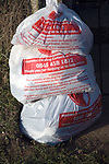 Plastic bags for Salvation Army clothes collection charity scheme